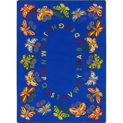 Joy Carpets Kid Essentials Butterfly Delight Multi Area Rug