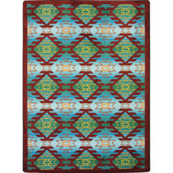 Joy Carpets Kaleidoscope Canyon Ridge Desert Turquoise Area Rug