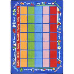 Joy Carpets Kid Essentials Celebrations Calendar Multi Area Rug