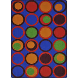 Joy Carpets Kid Essentials Circle Back Primary Area Rug