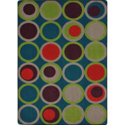 Joy Carpets Kid Essentials Circle Back Tropics Area Rug
