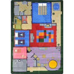 Joy Carpets Kid Essentials Creative Play House Multi Area Rug