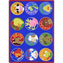 Joy Carpets Kid Essentials Creature Calls Multi Area Rug