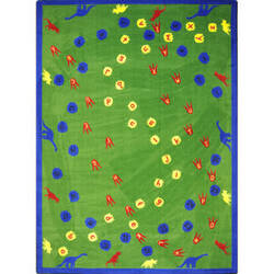 Joy Carpets Kid Essentials Dinosaur Walk Multi Area Rug