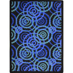 Joy Carpets Kid Essentials Dottie Sapphire Area Rug