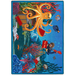 Joy Carpets Kid Essentials Fish Tales Multi Area Rug