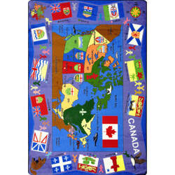 Joy Carpets Kid Essentials Flags Of Canada Multi Area Rug