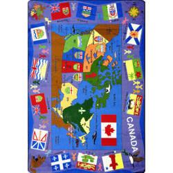 Joy Carpets Kid Essentials Flags Of Canada Multi Area Rug