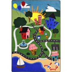 Joy Carpets Kid Essentials Happy Town Multi Area Rug