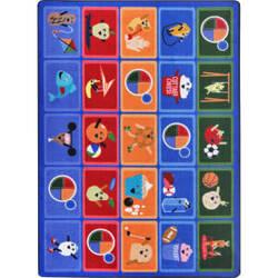 Joy Carpets Kid Essentials Healthy Choices Multi Area Rug