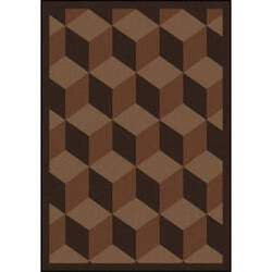 Joy Carpets Kaleidoscope Highrise Chocolate Area Rug
