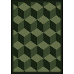 Joy Carpets Kaleidoscope Highrise Emerald Area Rug