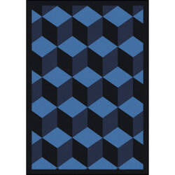 Joy Carpets Kaleidoscope Highrise Navy Area Rug