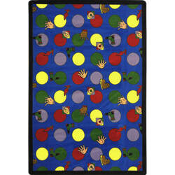 Joy Carpets Playful Patterns Hokey Pokey Multi Area Rug