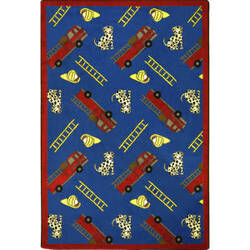 Joy Carpets Playful Patterns Hook And Ladder Blue Area Rug