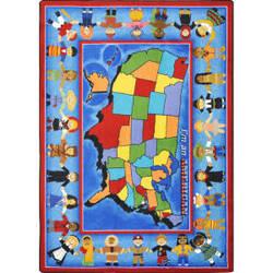 Joy Carpets Kid Essentials I'm An American Multi Area Rug