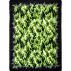 Joy Carpets Kaleidoscope Inferno Green Area Rug