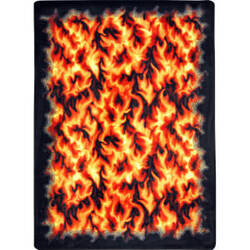 Joy Carpets Kaleidoscope Inferno Red Area Rug