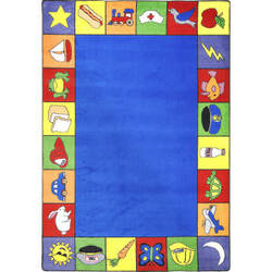 Joy Carpets Kid Essentials Jump Start Multi Area Rug