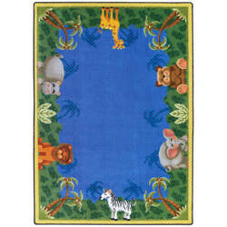 Joy Carpets Kid Essentials Jungle Friends Multi Area Rug