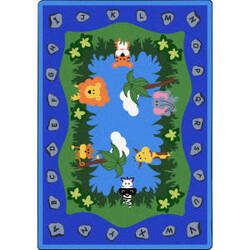 Joy Carpets Kid Essentials Jungle Peeps Multi Area Rug