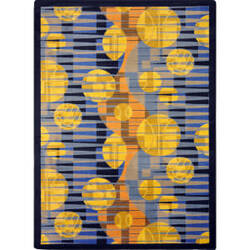 Joy Carpets Games People Play Keeping Score Blue Area Rug