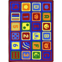 Joy Carpets Kid Essentials Letters Count Multi Area Rug