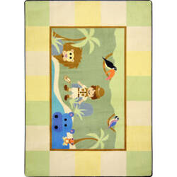 Joy Carpets Kid Essentials Lil' Explorer Multi Area Rug