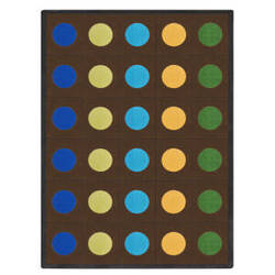 Joy Carpets Kid Essentials Lots Of Dots Earthtone Area Rug