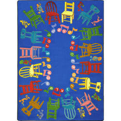 Joy Carpets Kid Essentials Musical Chairs Multi Area Rug