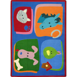 Joy Carpets Kid Essentials My Favorite Animals Multi Area Rug