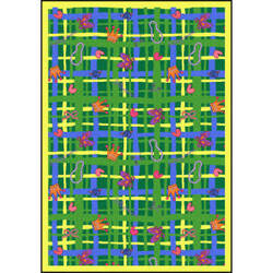 Joy Carpets Playful Patterns My Little Princess Green Area Rug