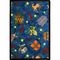 Joy Carpets Playful Patterns Mythical Kingdom Multi Area Rug
