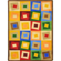 Joy Carpets Kid Essentials Off Balance Neutrals Area Rug