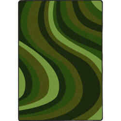 Joy Carpets Kid Essentials On The Curve Green Area Rug