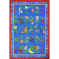 Joy Carpets Kid Essentials Phonics Fun Multi Area Rug