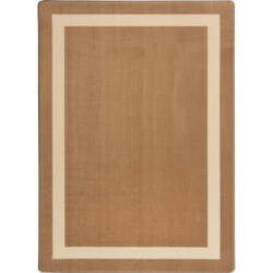 Joy Carpets Kid Essentials Portrait Mocha Area Rug