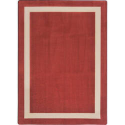 Joy Carpets Kid Essentials Portrait Wine Area Rug
