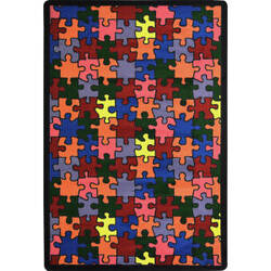 Joy Carpets Playful Patterns Puzzled Multi Area Rug