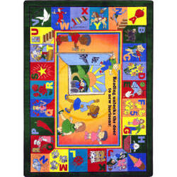 Joy Carpets Kid Essentials Read And Rhyme Multi Area Rug