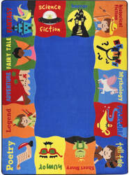 Joy Carpets Kid Essentials Read Me A Story Multi Area Rug