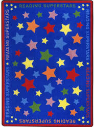Joy Carpets Kid Essentials Reading Superstars Multi Area Rug
