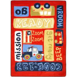 Joy Carpets Kid Essentials Ready - Set - Go Multi Area Rug