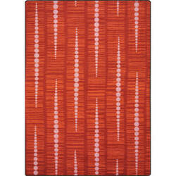 Joy Carpets Kid Essentials Recoil Red Area Rug