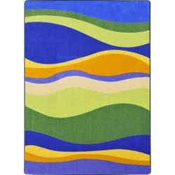Joy Carpets Kid Essentials Riding Waves Multi Area Rug
