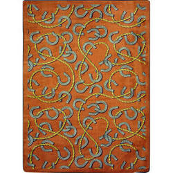 Joy Carpets Kaleidoscope Rodeo Rust Area Rug