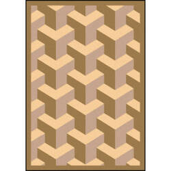 Joy Carpets Kaleidoscope Rooftop Beige Area Rug