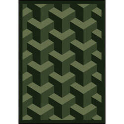 Joy Carpets Kaleidoscope Rooftop Emerald Area Rug
