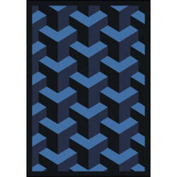 Joy Carpets Kaleidoscope Rooftop Navy Area Rug
