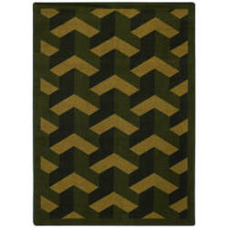 Joy Carpets Kaleidoscope Rooftop Olive Area Rug